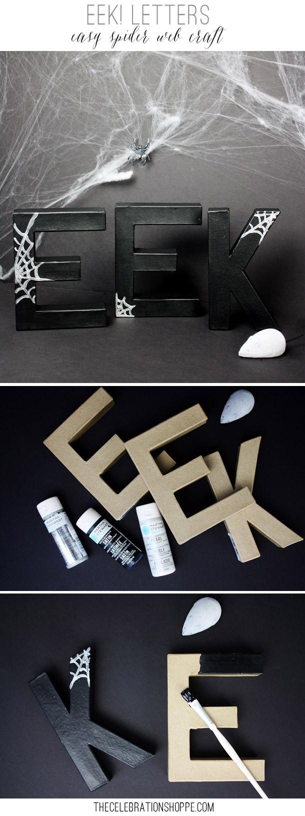 EEK Spiderweb Letters | Kim Byers, TheCelebrationShoppe.com