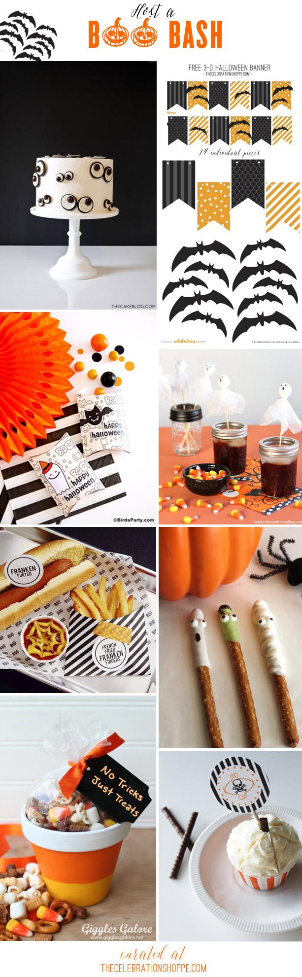 Host a halloween party in black orange