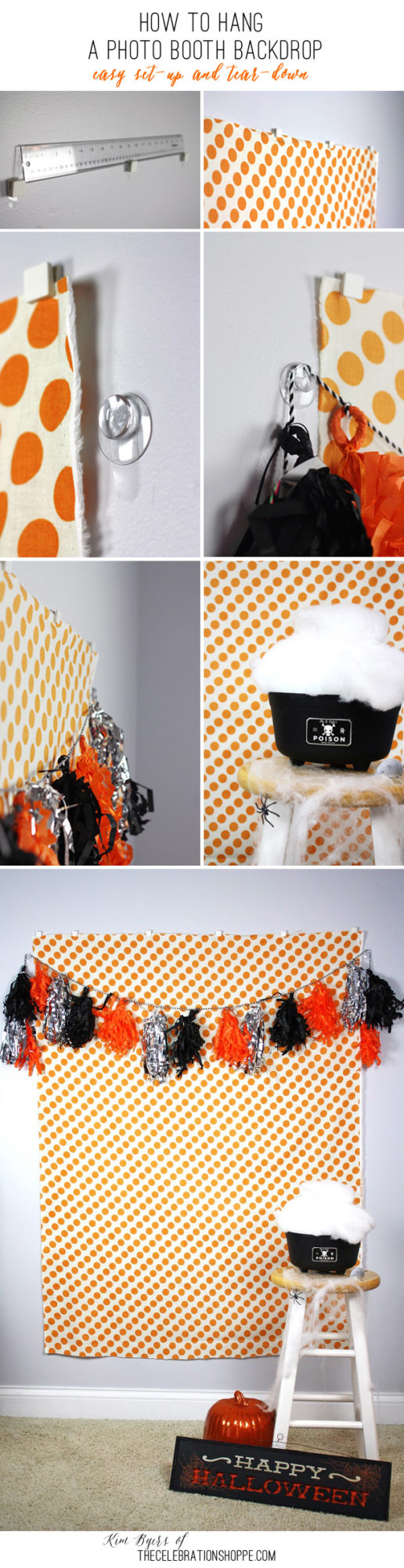 How To Set Up A Photo Booth Backdrop | Kim Byers, TheCelebrationShoppe.com