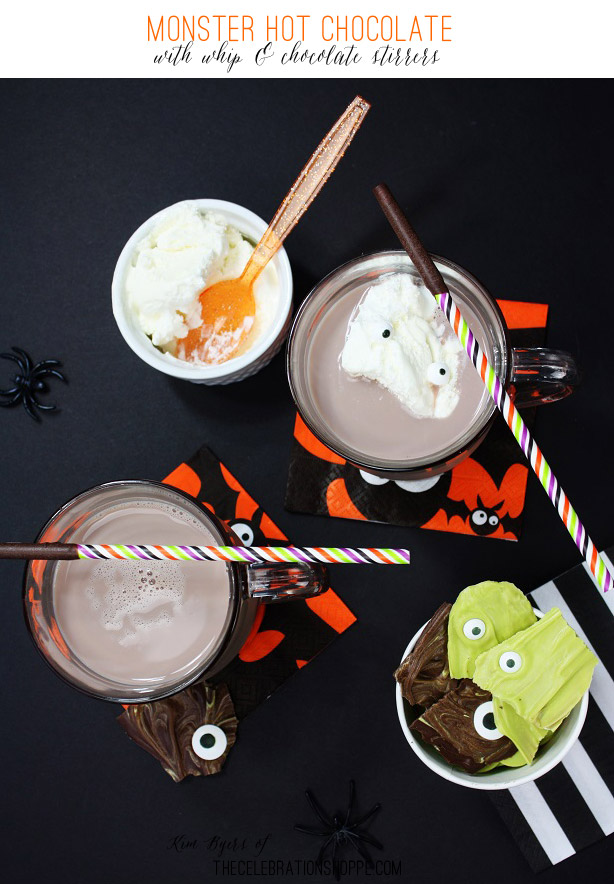 Monster Hot Chocolate with Whip & Chocolate Stirrers | Kim Byers