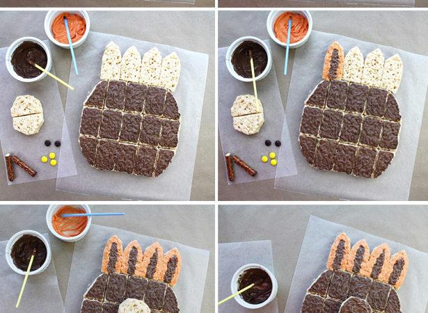 How to make thanksgiving turkey cake kim byers