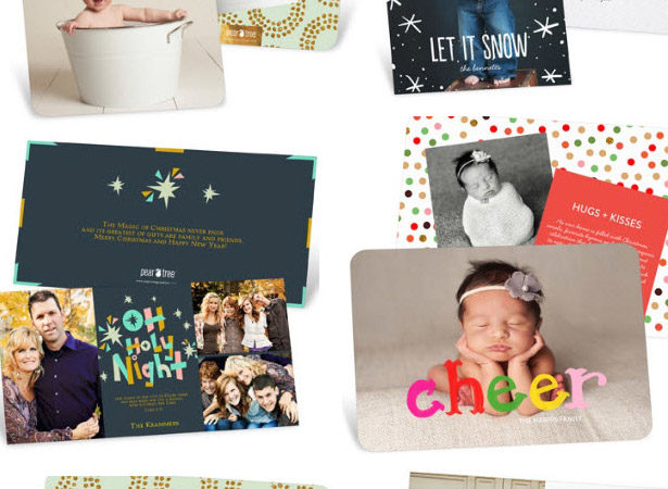 Peartreegreetings foil christmas cards traditional