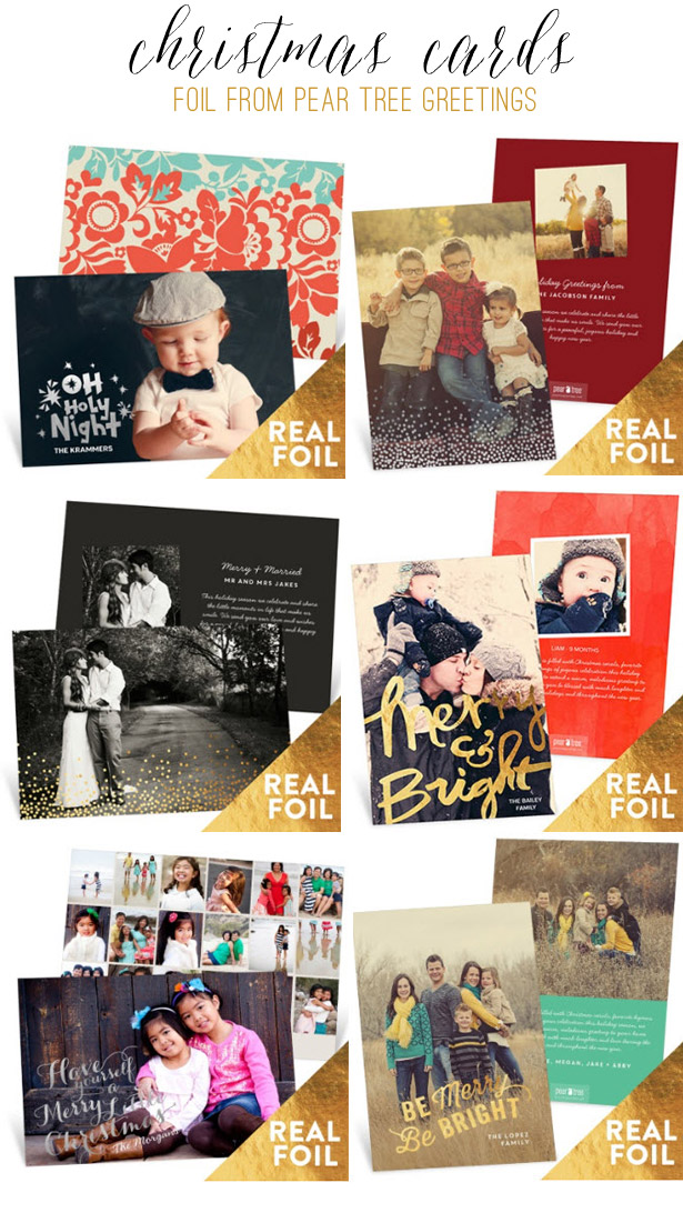 Foil Christmas Cards from Pear Tree Greetings