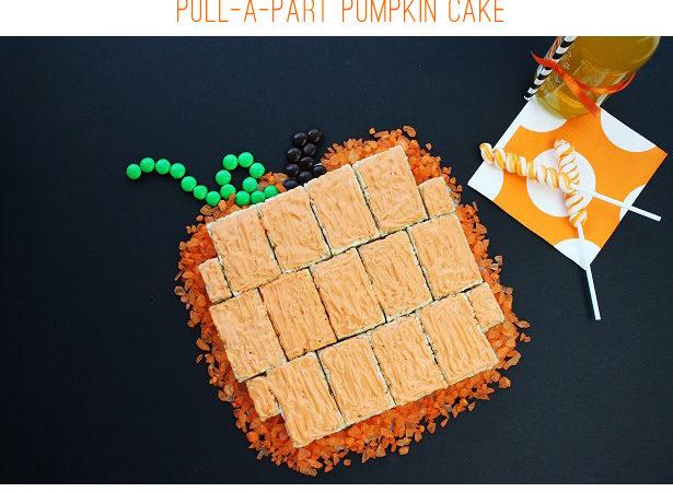 Rice krispies treats pumpkin cake kim byers