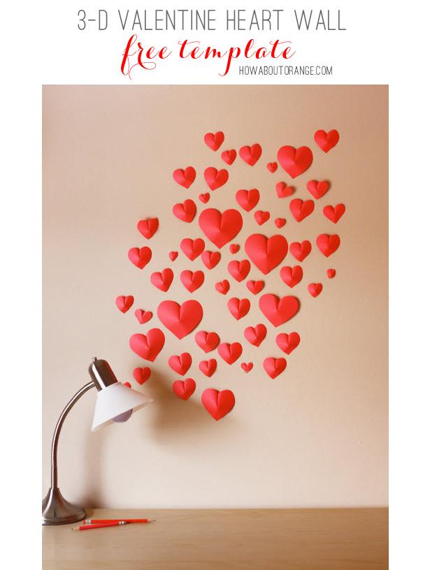 001 valentine heart wall