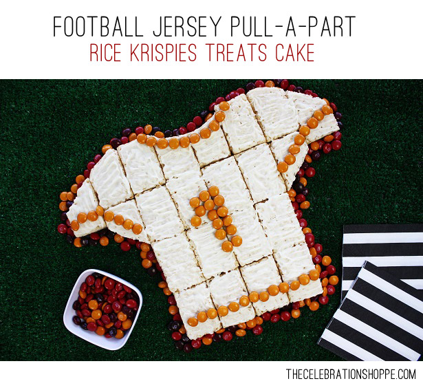 1 football jersey rice krispies treats cake kim byers