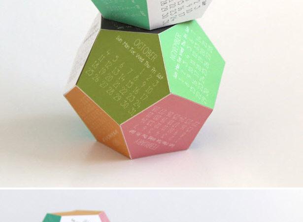 3 d geometric 2015 calendar
