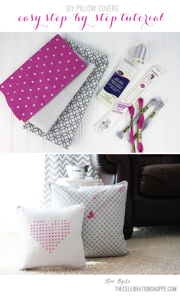 How To Make Pillow Covers With Invisible Zippers | @kimbyers