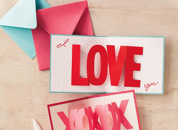 Valentines day pop up cards ms
