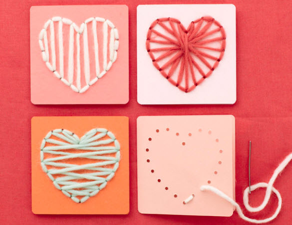 Valentine string art heart template