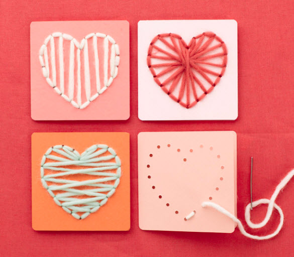 Valentine String Art for Kids
