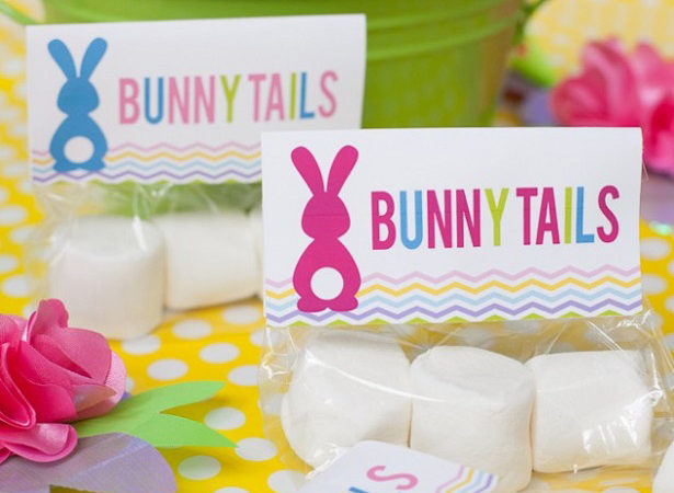 Easter bunny tails free printable frog prince paperie