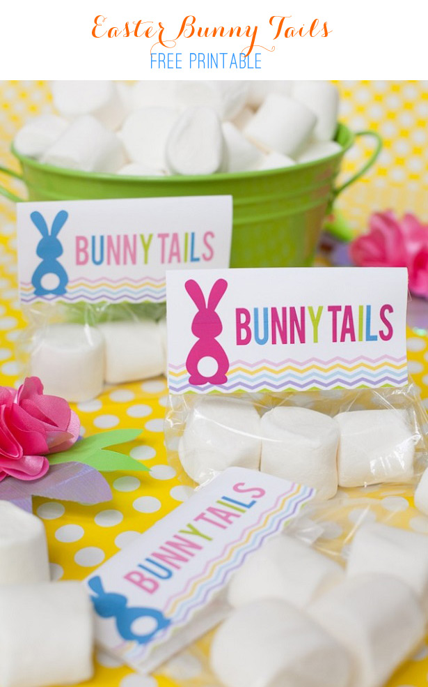 Easter Bunny Tails Free Printable