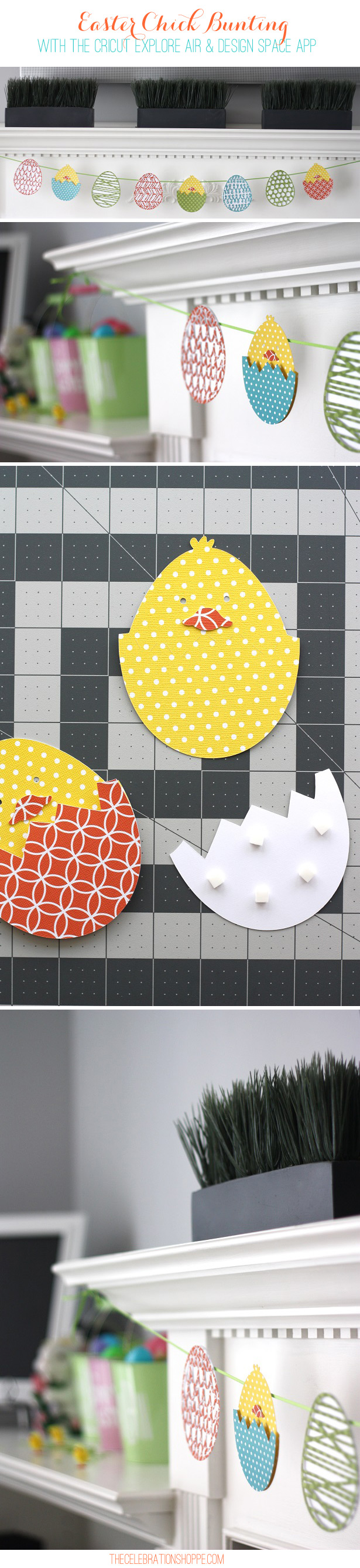 Easter Chick Bunting with Cricut Explore and Design Space App