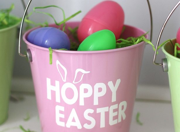 Personalized hoppy easter egg pail kim byers