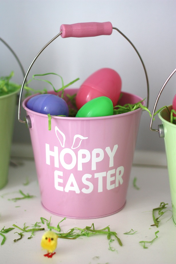 Personalized hoppy easter egg pail kim byers