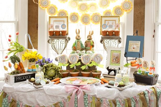 Peter Rabbit Baby Shower  #Easter #Spring