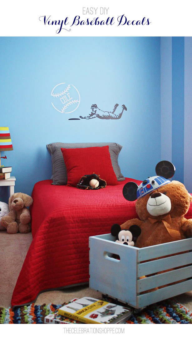 Boy Bedroom Ideas - Personalized Baseball Vinyl
