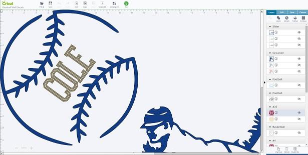 Baseball Designs on Cricut Design Space