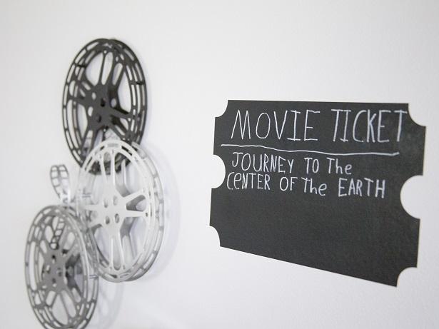 DIY Chalkboard Movie Ticket | Kim Byers