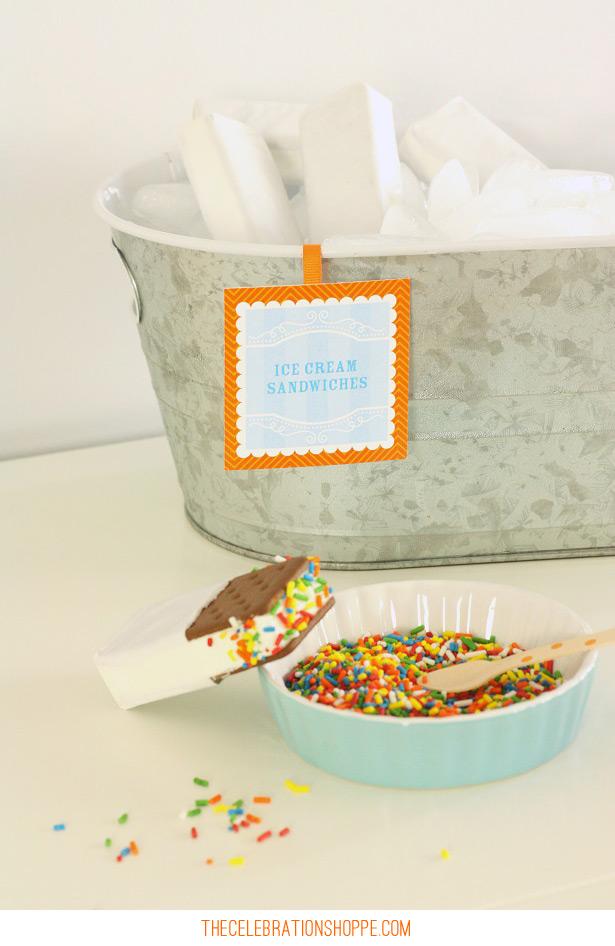 Ice Cream Party Ideas | @kimbyers TheCelebrationShoppe.com