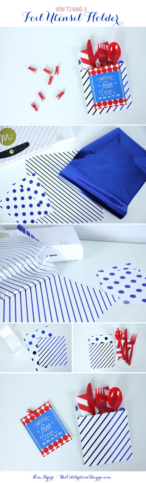Make A Foil Utensil Holder