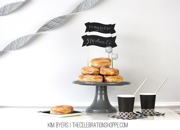 Chalkboard Cake Toppers | Easy DIY with TheCelebrationShoppe.com