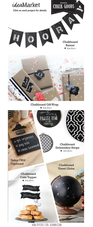 Chalkboard Crafts | Kim Byers for JoAnn.com