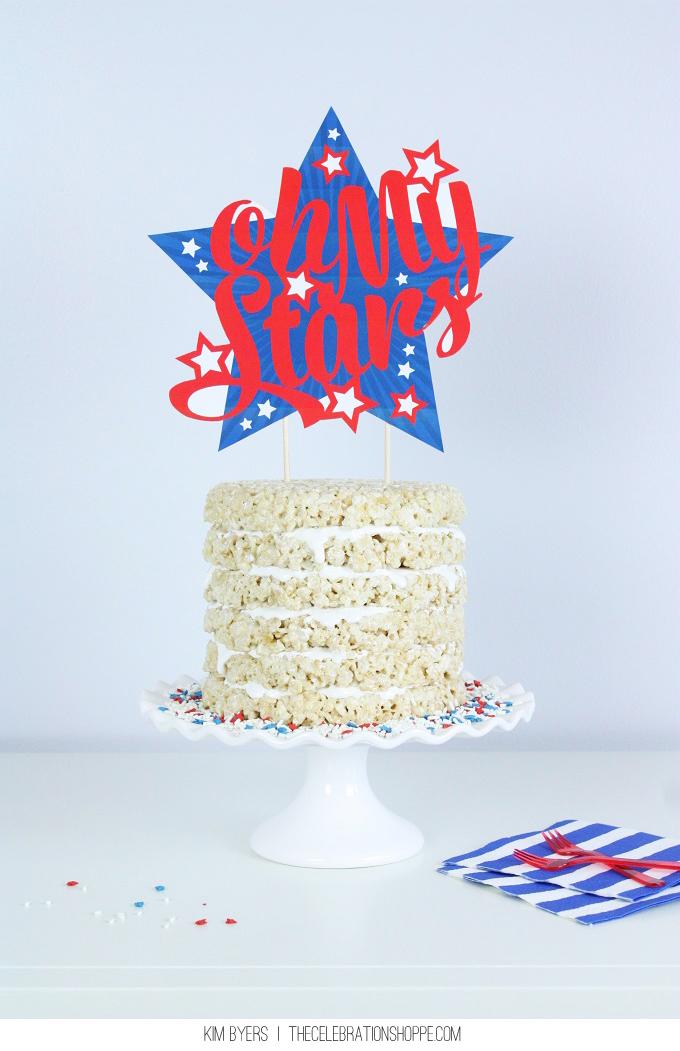 1v oh my stars cake topper kim byers 2107wl