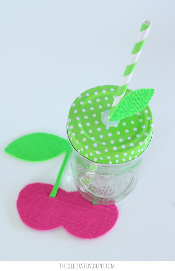 Cherry Drink Coasters For A Fruitful Summer | @kimbyers