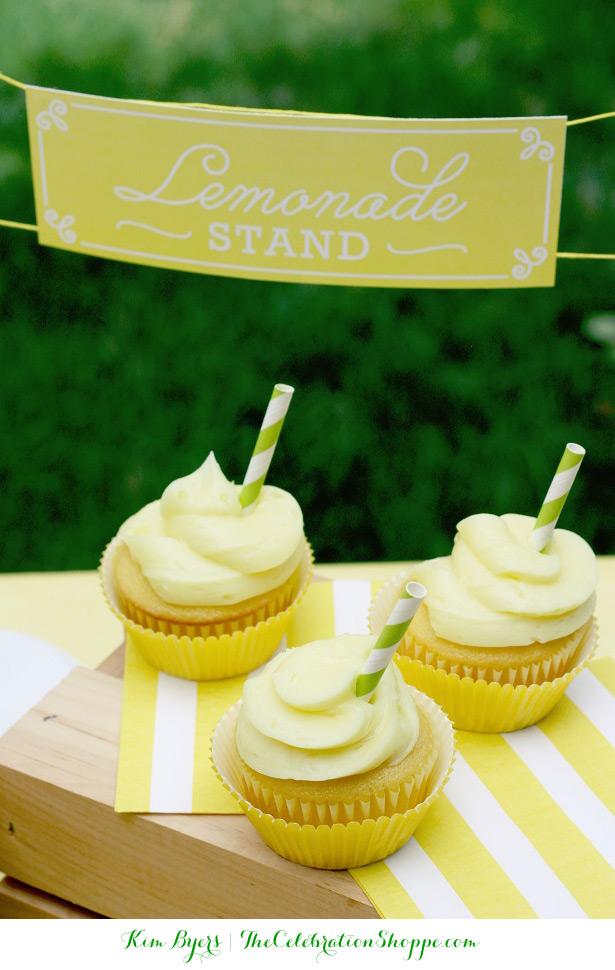 Lemonade Cupcakes   @kimbyers TheCelebrationShoppe.com