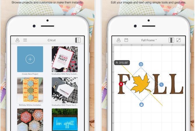 Cricut iphone app screenshots
