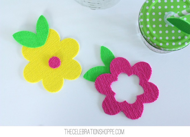 Flower Cupcake Coasters | @kimbyers