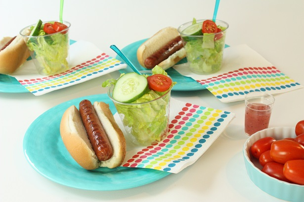 Hebrew National and Mini Summer Salads   @kimbyers