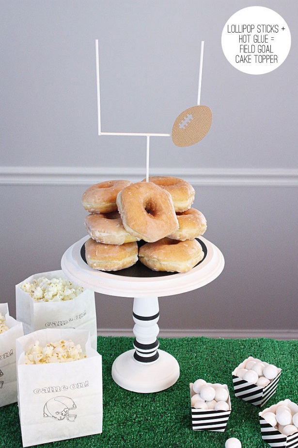 3 diy cake plate football topper kim byers 5338 615