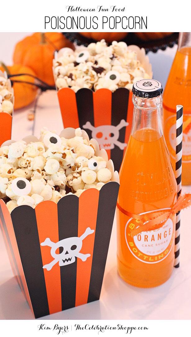 Halloween Treat - Poisonous Popcorn   Kim Byers, TheCelebrationShoppe.com