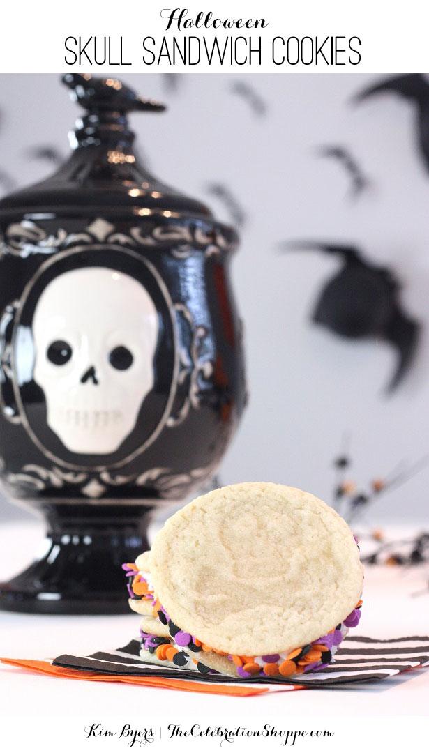 Skull Sandwich Cookies   Kim Byers, TheCelebrationShoppe.com