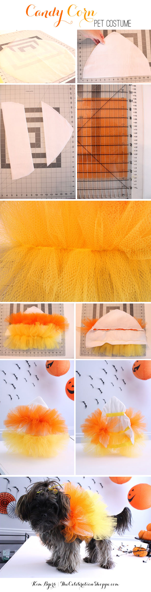 How To Make A Candy Corn Pet Costume | Kim Byers