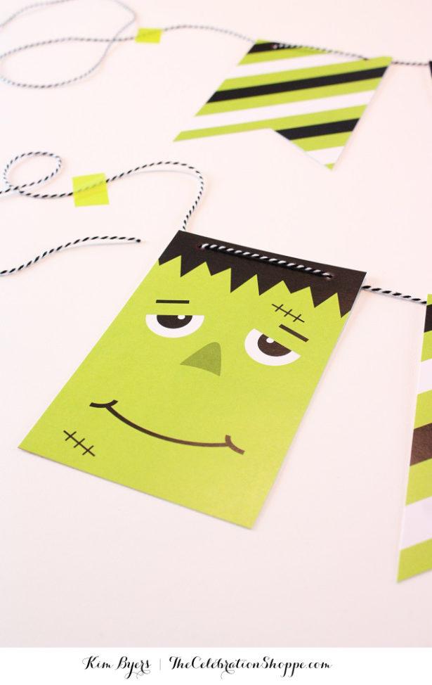 Free Printable Frankenstein Banner | Kim Byers, TheCelebrationShoppe.com