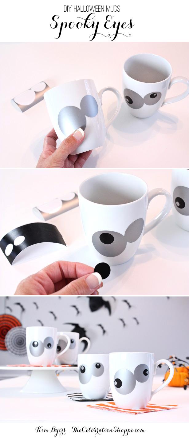 DIY Halloween Mugs | Tutorial with Kim Byers, TheCelebrationShoppe.com