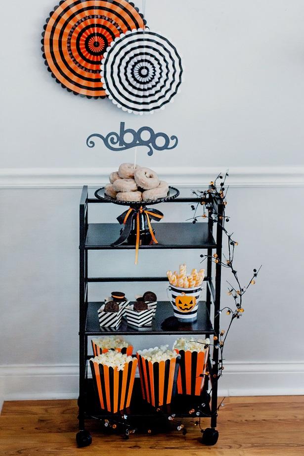 Halloween Party Treats Cart | Kim Byers, TheCelebrationShoppe.com