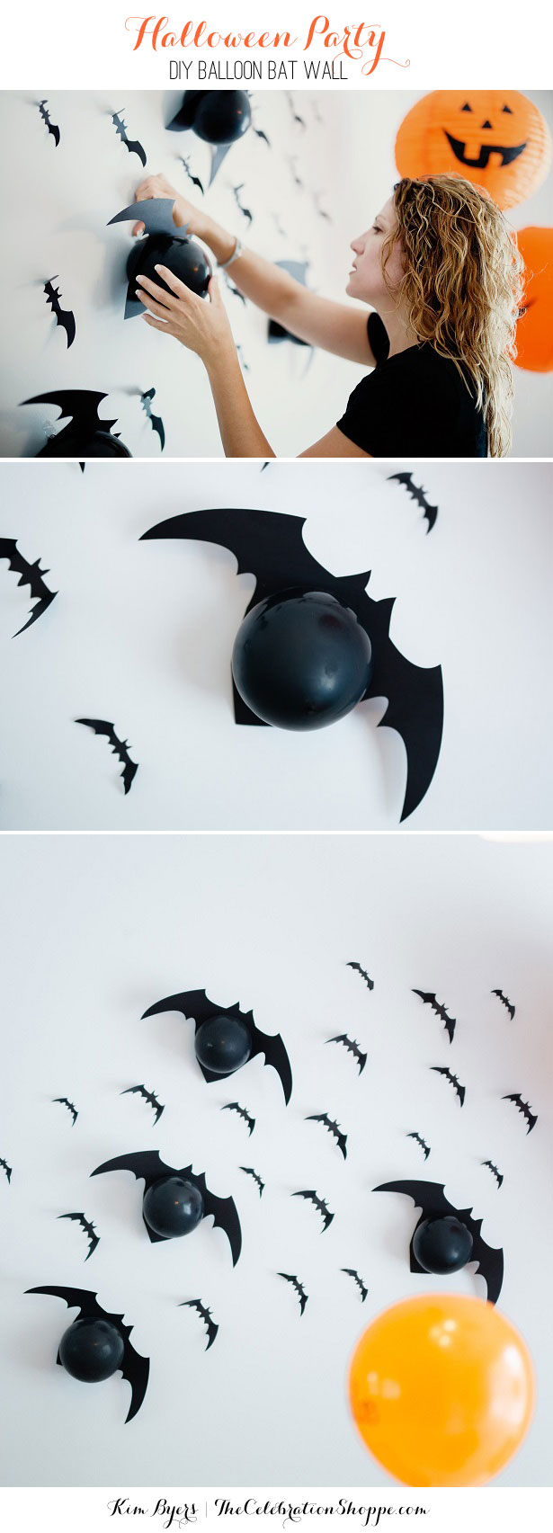 How to make a halloween bat balloon wall kim byers