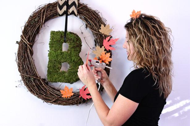 Easy Moss Monogram Wreath | Kim Byers, TheCelebrationShoppe.com