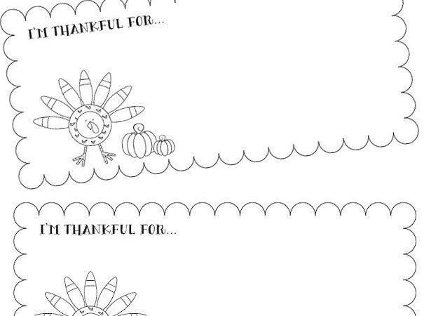 Free printable thanksgiving coloring sheet