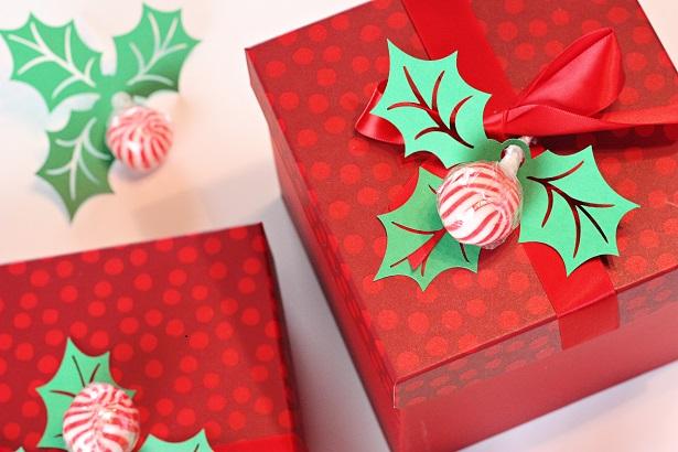 DIY Christmas Gift Wrap Embellishments   @kimbyers