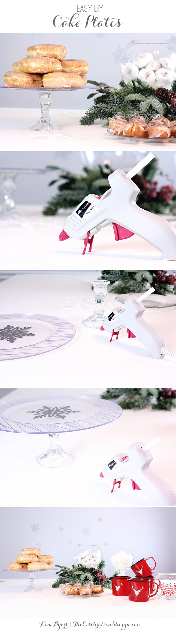 Make Easy DIY Cake Plates | @kimbyers TheCelebrationShoppe.com