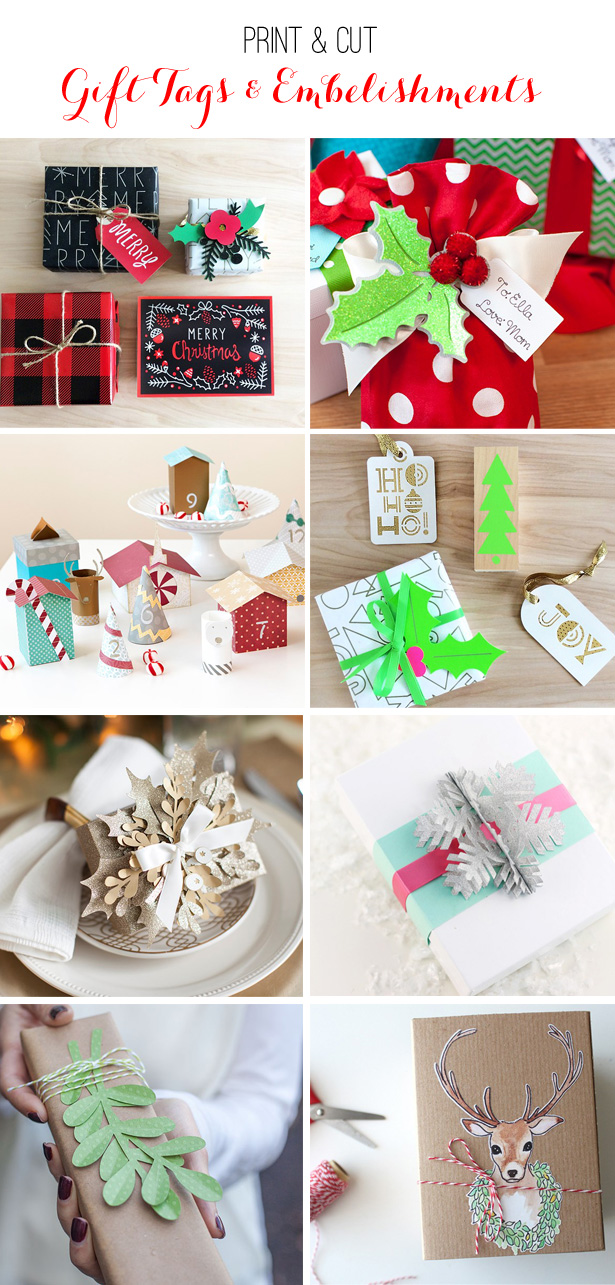 8 Print & Cut Holiday Tags | @kimbyers TheCelebrationShoppe.com
