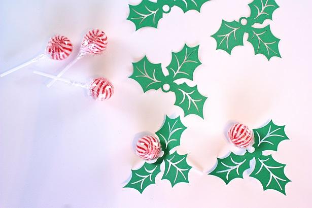Christmas Holly Paper Craft   @kimbyers TheCelebrationShoppe.com
