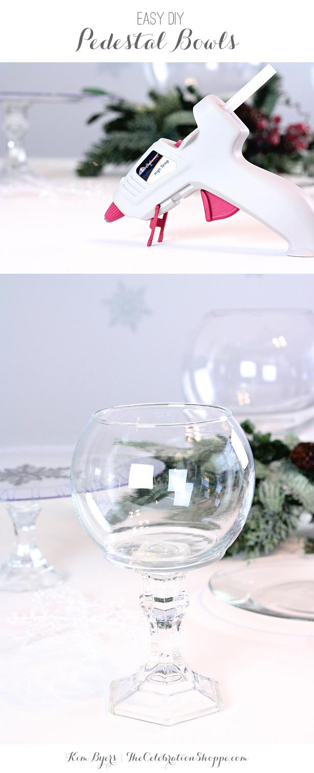 DIY Pedestal Bowls | @kimbyers TheCelebrationShoppe.com