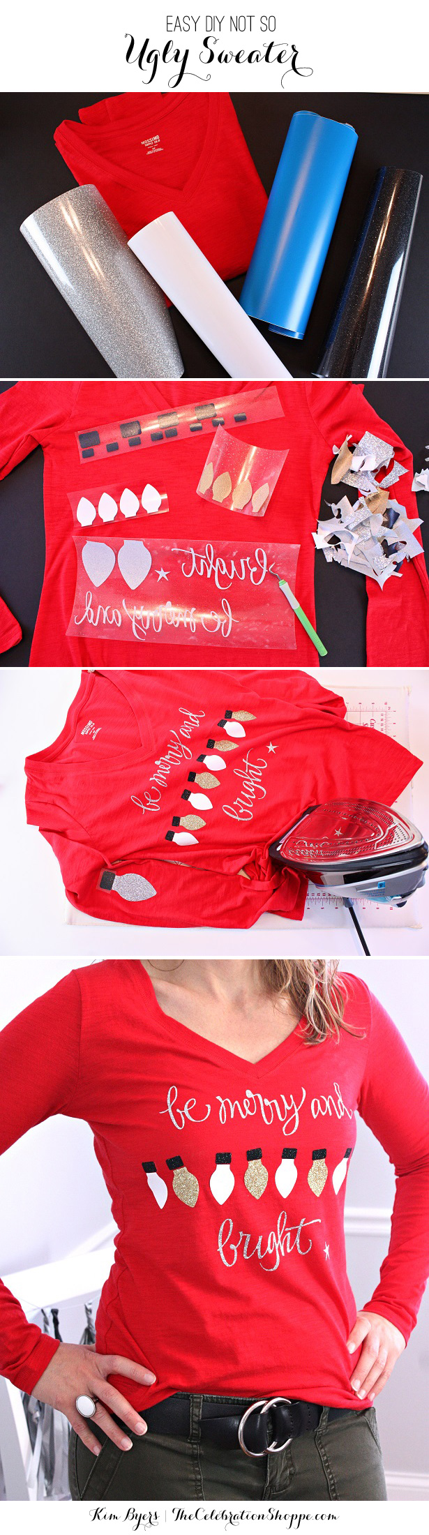 How To Make A Not So Ugly Sweater | @kimbyers